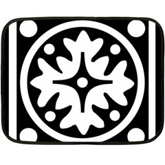 Mandala Pattern Mystical Fleece Blanket (mini) by Celenk