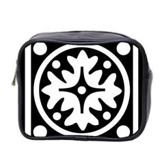 Mandala Pattern Mystical Mini Toiletries Bag 2 Side by Celenk