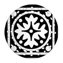 Mandala Pattern Mystical Round Filigree Ornament (two Sides) by Celenk