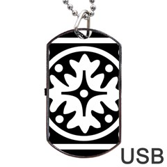 Mandala Pattern Mystical Dog Tag Usb Flash (one Side) by Celenk