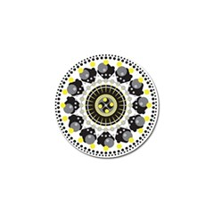 Mandala Geometric Design Pattern Golf Ball Marker (4 Pack) by Celenk