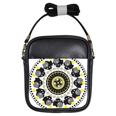 Mandala Geometric Design Pattern Girls Sling Bags by Celenk