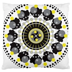 Mandala Geometric Design Pattern Large Cushion Case (two Sides) by Celenk