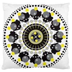 Mandala Geometric Design Pattern Large Flano Cushion Case (two Sides) by Celenk