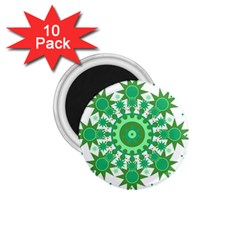 Mandala Geometric Pattern Shapes 1 75  Magnets (10 Pack)  by Celenk
