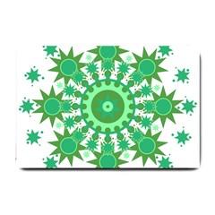 Mandala Geometric Pattern Shapes Small Doormat  by Celenk
