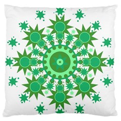Mandala Geometric Pattern Shapes Standard Flano Cushion Case (two Sides) by Celenk