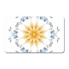 Mandala Mermaid Lake Rose Swimmers Magnet (rectangular) by Celenk