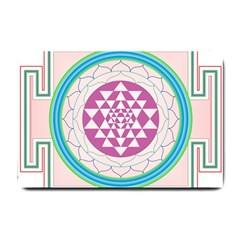 Mandala Design Arts Indian Small Doormat  by Celenk