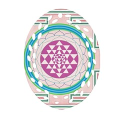 Mandala Design Arts Indian Ornament (oval Filigree) by Celenk