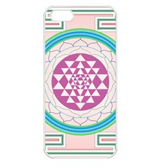 Mandala Design Arts Indian Apple Iphone 5 Seamless Case (white) by Celenk