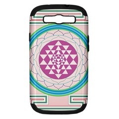 Mandala Design Arts Indian Samsung Galaxy S Iii Hardshell Case (pc+silicone) by Celenk