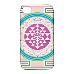 Mandala Design Arts Indian Apple Iphone 4/4s Hardshell Case With Stand by Celenk