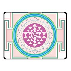 Mandala Design Arts Indian Double Sided Fleece Blanket (small)  by Celenk