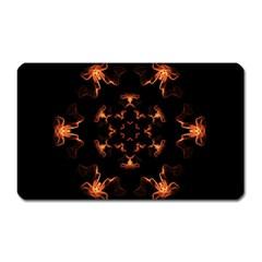 Mandala Fire Mandala Flames Design Magnet (rectangular) by Celenk