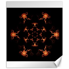 Mandala Fire Mandala Flames Design Canvas 8  X 10  by Celenk
