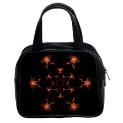 Mandala Fire Mandala Flames Design Classic Handbags (2 Sides) by Celenk
