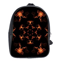 Mandala Fire Mandala Flames Design School Bag (large) by Celenk