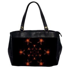 Mandala Fire Mandala Flames Design Office Handbags by Celenk