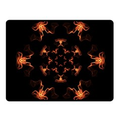 Mandala Fire Mandala Flames Design Fleece Blanket (small) by Celenk