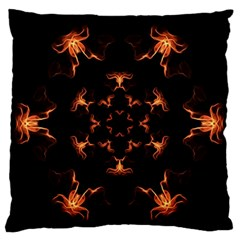 Mandala Fire Mandala Flames Design Large Flano Cushion Case (two Sides) by Celenk