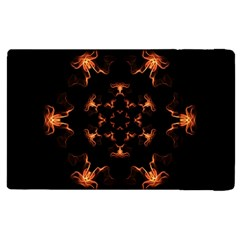 Mandala Fire Mandala Flames Design Apple Ipad Pro 9 7   Flip Case by Celenk