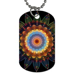 Colorful Prismatic Chromatic Dog Tag (two Sides) by Celenk