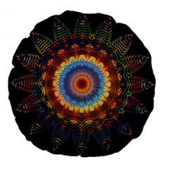 Colorful Prismatic Chromatic Large 18  Premium Flano Round Cushions by Celenk