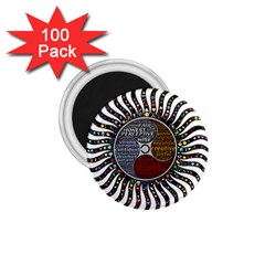 Whole Complete Human Qualities 1 75  Magnets (100 Pack)  by Celenk