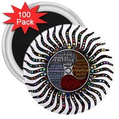 Whole Complete Human Qualities 3  Magnets (100 Pack) by Celenk