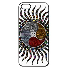 Whole Complete Human Qualities Apple Iphone 5 Seamless Case (black) by Celenk