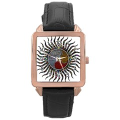 Whole Complete Human Qualities Rose Gold Leather Watch  by Celenk