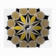 Mandala Yin Yang Live Flower Small Glasses Cloth (2 Side) by Celenk