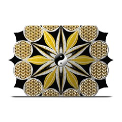 Mandala Yin Yang Live Flower Plate Mats by Celenk
