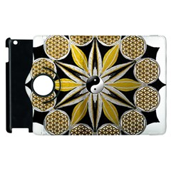 Mandala Yin Yang Live Flower Apple Ipad 2 Flip 360 Case by Celenk
