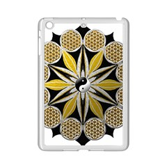 Mandala Yin Yang Live Flower Ipad Mini 2 Enamel Coated Cases by Celenk