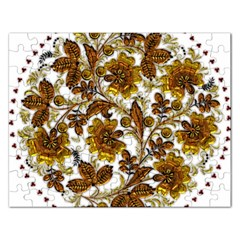 Mandala Metallizer Art Factory Rectangular Jigsaw Puzzl by Celenk