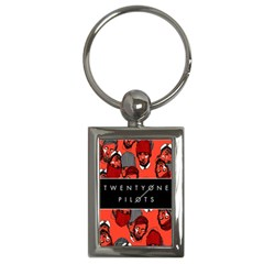 Twenty One Pilots Pattern Key Chains (rectangle)  by Onesevenart