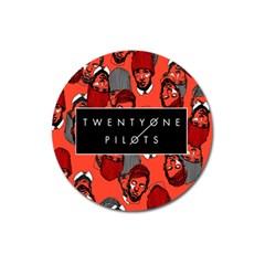 Twenty One Pilots Pattern Magnet 3  (round) by Onesevenart