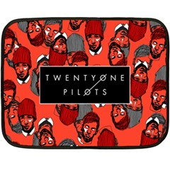 Twenty One Pilots Pattern Fleece Blanket (mini) by Onesevenart