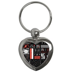 Twenty One Pilots Poster Key Chains (heart)  by Onesevenart