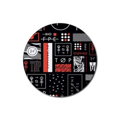 Twenty One Pilots Poster Rubber Round Coaster (4 Pack)  by Onesevenart