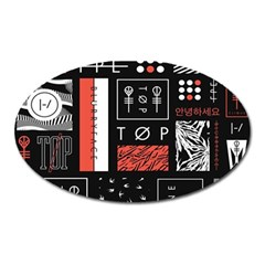 Twenty One Pilots Poster Oval Magnet by Onesevenart