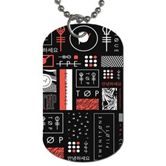 Twenty One Pilots Poster Dog Tag (two Sides) by Onesevenart