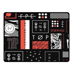 Twenty One Pilots Poster Fleece Blanket (small) by Onesevenart