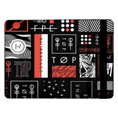 Twenty One Pilots Poster Samsung Galaxy Tab Pro 12 2  Flip Case by Onesevenart