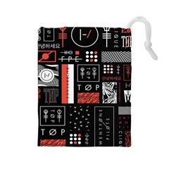 Twenty One Pilots Poster Drawstring Pouches (large)  by Onesevenart