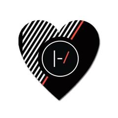 Twenty One Pilots Poster Heart Magnet by Onesevenart
