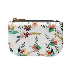 Floral Backdrop Pattern Flower Mini Coin Purses by Celenk