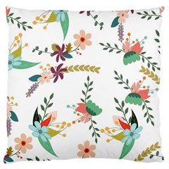 Floral Backdrop Pattern Flower Large Cushion Case (two Sides) by Celenk